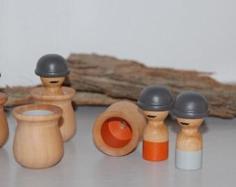 Wooden educational toy - Gentlemen Memory