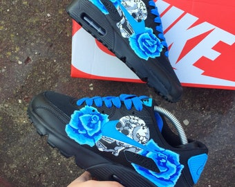 Blue rose skull candy Nike air max 90
