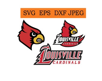 Louisville Cardinals logo in SVG / Eps / Dxf / Jpg files INSTANT DOWNLOAD!