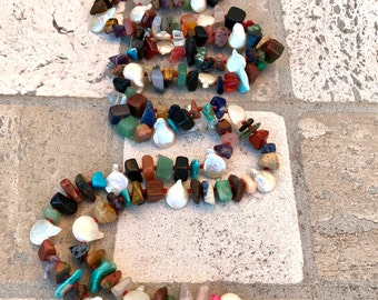 Long necklace  mix stones