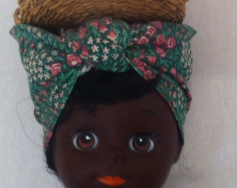Vintage 1981 Gambina Doll, with Tags, New Orleans, Women Who Carry Foods to Sell on Their Heads Walking Around, Leanna, #109, Happy Doll
