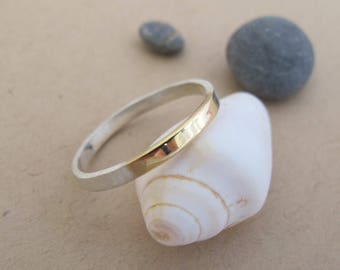 Gold And Silver Ring, Dainty Ring, Minimalist Ring, Thin Gold Ring, Dainty Ring Gold, Thin Gold Band Ring, Minimalist Gold Ring, Thin Ring