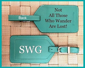 Personalized baggage tags, monogram bag tags, luggage tag, luggage tags personalized, custom luggage tags, passports Turquoise*