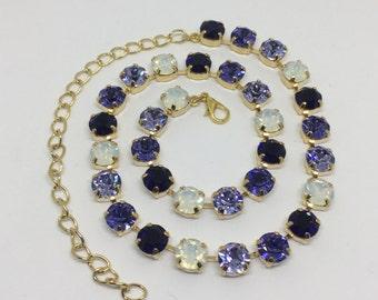 Swarovski Purples and Opal 8mm Swarovski Necklace