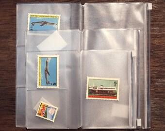 PVC Pouch, Card Holder, Zipper Pouch, Pouch, Midori, stickers storage, insert, Card Organizer, Zippered Pocket, Travelers Notebook