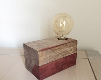 Lamp in wood to ask