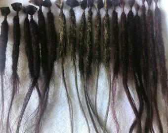 Dreadlock extensions, overproduction, Resteverkauf, ready to ship + special price