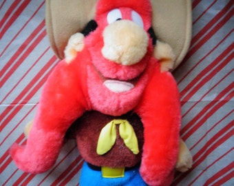 Vintage 1997 Looney Tunes Yosemite Sam Plush