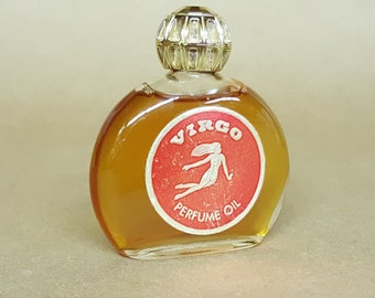 Zodiac Sign Virgo Perfume Oil Zodiac Cosmetics, Inc, Dallas Tx 1 Fluid Ounce Vintage Perfume Oil Wear or for the Bath Water