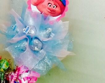 Poppy Fairy Wand, Troll Party Favors, Hershey Kiss Fairy Wand, Poppy Party Favor, Troll Birthday, Poppy Birthday, 5 Yr old Birthday!