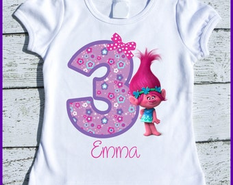 Custom Personalized Super Cute Trolls Poppy  tee shirt