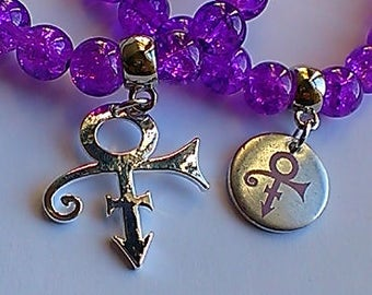 Prince Memorial Stretch Bracelets/ Anklets