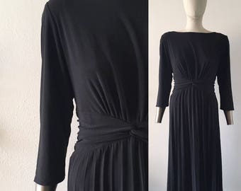 vintage 1990s dress・long sleeved・pleated skirt