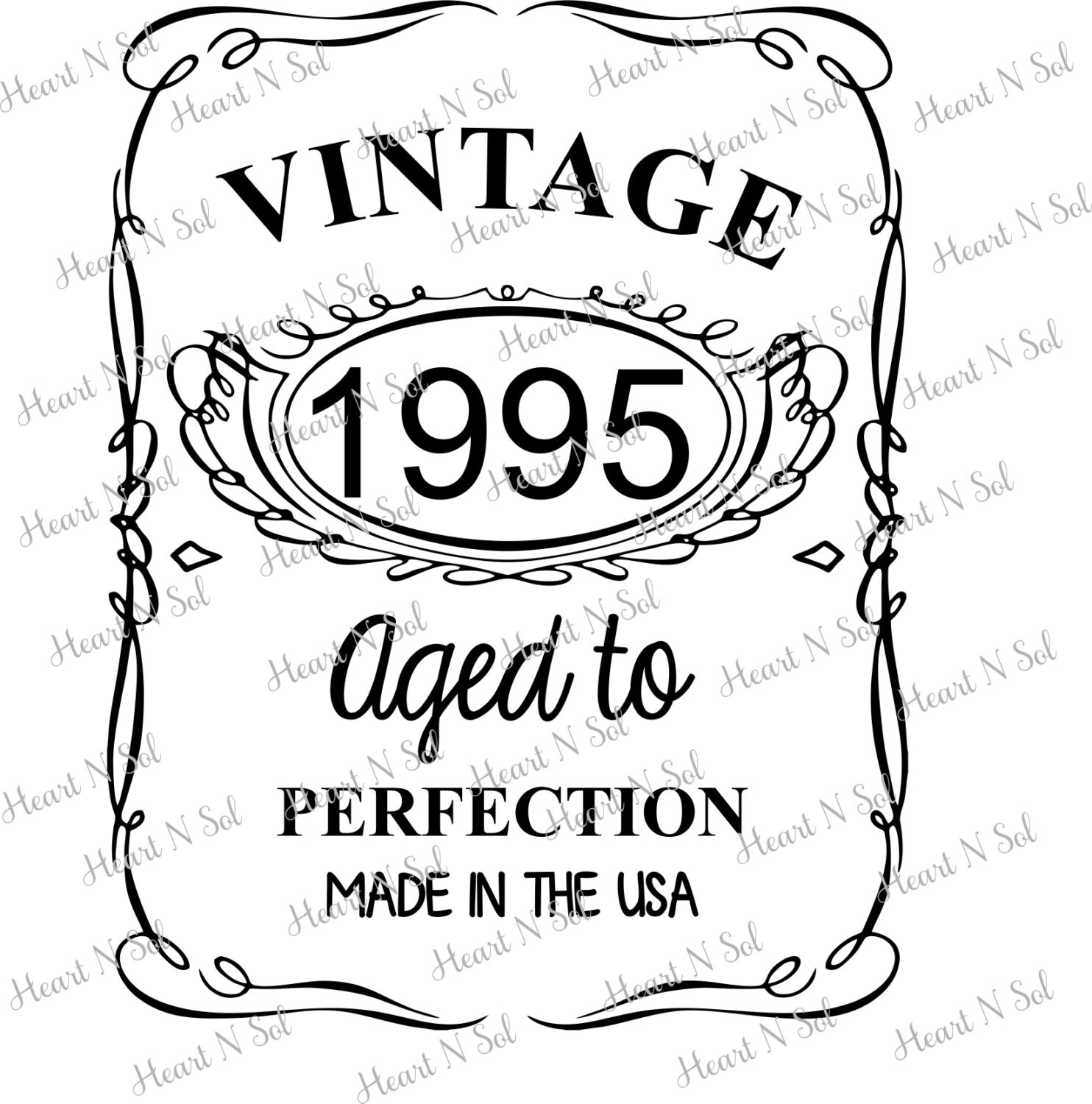 1995 Aged To Perfection Vintage Shirt Made In Usa