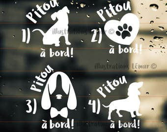 Puppy/dog on Board (8 designs)