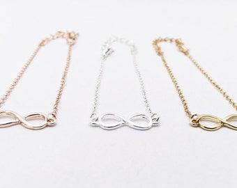 Bracelet silver, Infinity, Infinity, Bridesmaid Gift, Gift, Love, Eternity