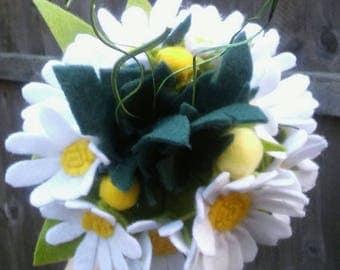 felt flower bouquet marguerite