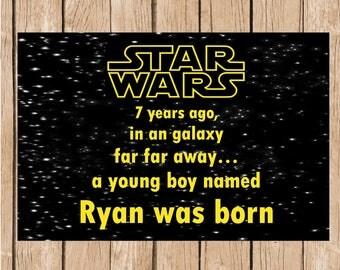 Star Wars Birthday Vinyl Banner