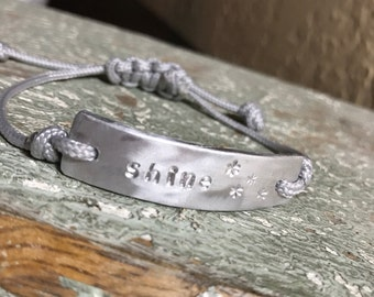 Hand stamped customized message