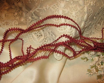 Double Picot Edge Trim~ Dolls Craft ~ Red Wine
