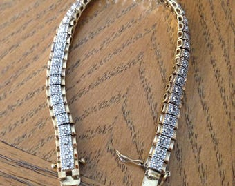 Gold and Silver Diamond Bracelet