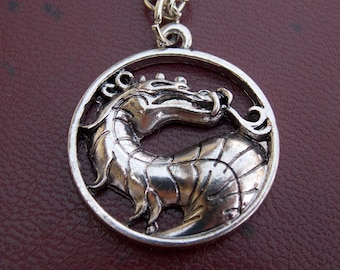 Mortal kombat necklace, Mortal Kombat pendant, mortal kombat, dragon pendant, dragon necklace, Anime MK, Game Mortal Kombat
