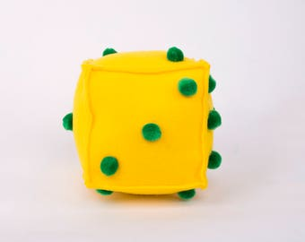 Sensory Numbers Dice  Montessori inspired Cube Counting Practice