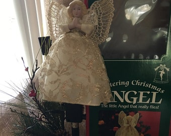 Christmas Angel Fluttering