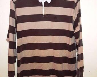 FREE SHIPPING Vintage OG Polo Supreme Stripes tees polo rugby shirt