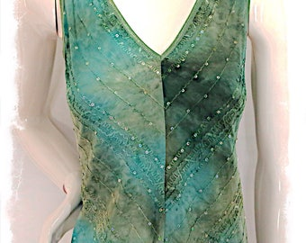 Vintage Sage Green Sleeveless Top