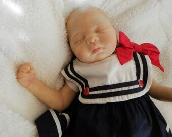 Reborn Baby Girl, Reborn Baby, Fake Baby, Made from Leah kit by Sandra White, Realistic Baby Doll, Newborn Doll, Hand Painted Reborn