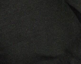 Solid Cotton Spandex - Black