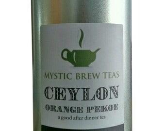 Mystic Brew Teas Orange Pekoe Ceylon Loose Leaf Tea 100g Caddy