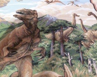 dinosaur fabric panel 43w x 32L