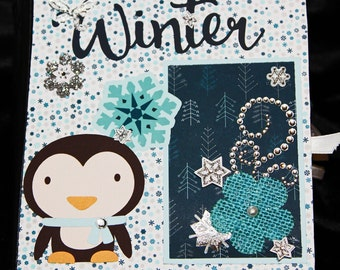 Pre-made 6 x 6 Scrapbook Album-Winter