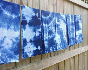 Indigo Tie Dye Kitchen Towels