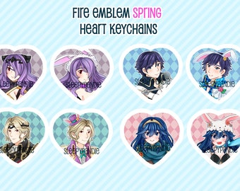 Fire Emblem Heroes Spring Festival - Double Sided Heart Keychains