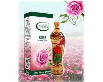Natural Essential Oil Rose - Rosa damascene - 100% Pure Premium Quality 10ml Aromatherapy Therapeutic Grade Aroma Essential oils
