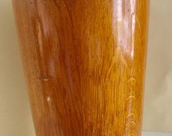 Wooden beaker with silver plated insert