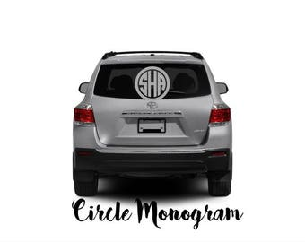 Car Decal, Truck Decal, Monogram Decal, Personalized Decal, Vinyl Decal, Custom Made Decal, Wall Decal, Car Accessories, Decal, Car Sticker