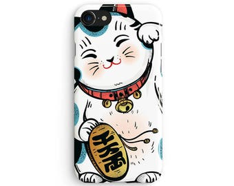 Lucky cat - iPhone 7 case, Samsung Galaxy S7 case, iPhone 6, iPhone 7 plus, iPhone SE, iPhone 5S, 1C026A