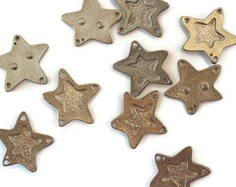 Ring pewter medium top star for making jewelry LoB-18 (10 pieces)