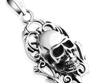 Memento Mori Skull Stainless Steel Pendant