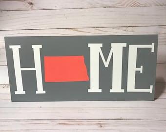 North Dakota State Home Sign