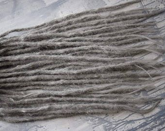 Synthetic grey dreads  50-65cm long