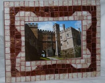 Picture Frame, Mosaic Photo Frame, Handmade Photo Frame, Wedding Gift, Wall Decor, Mosaic Home Decor