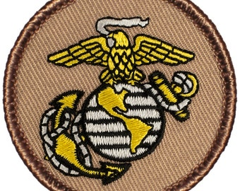 USMC Emblem Patch (374) 2 Inch Diameter Embroidered Patch
