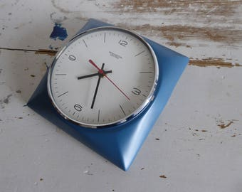 Remington lektro vintage clock wall clock Küchenuhr blue best vintage ceramic top mid century