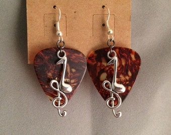 Handmade earring, guitar pick earrings, handmade, earrings, music earrings, guitar picks, jewelry, music jewelry, girls earrings