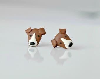 Dog - tiny, cute earrings